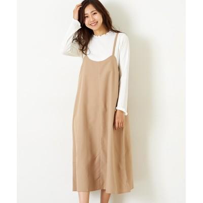 【Green Parks(グリーンパークス)】。RAYCASSIN  SET2点 ハイネック×ワンピース (ワンピース)Dress