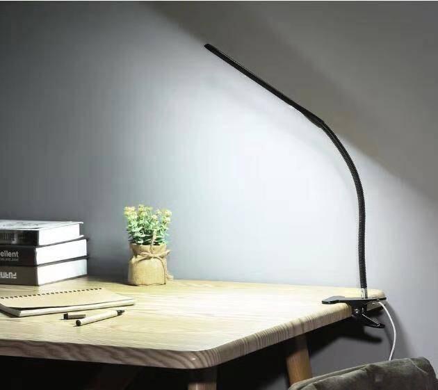 20燈led夾燈 金屬軟管可360度調整 強力夾設計 穩固不傾倒 多環境適用 可夾可立放 usb開關