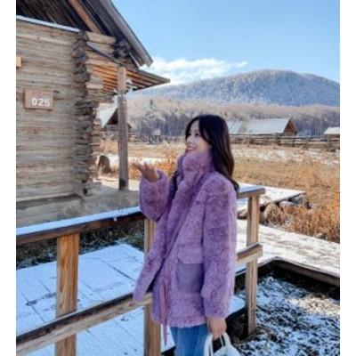 送料無料 ファーコート レディースコート 防寒 ファーアウター 耳付き フード付き 冬物 ふんわり コート 美スタイル 可愛い 秋冬