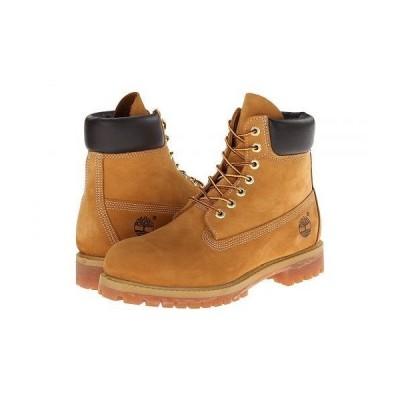 "Timberland ティンバーランド メンズ 男性用 シューズ 靴 ブーツ レースアップ 編み上げ 6"" Premium Waterproof Boot - Wheat Nubuck Leather"