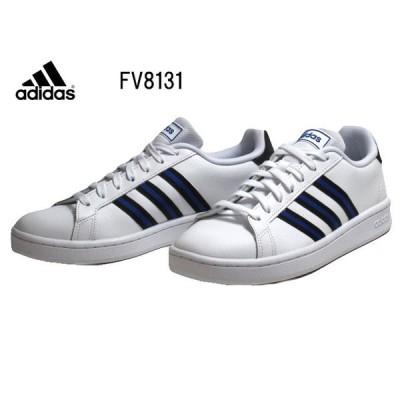 アディダス adidas グランドコート LEA FV8131 フットウェアホワイト スニーカー メンズ 靴