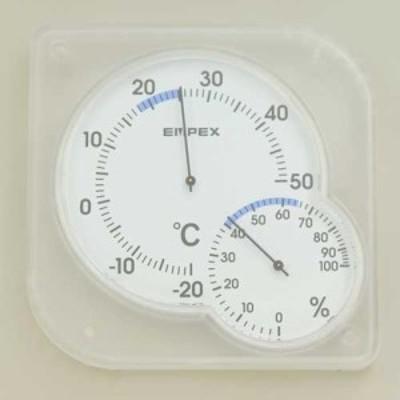 ELPA OS-01(W) 温度計・湿度計(クリアホワイト)ELPA[OS01W] 返品種別A