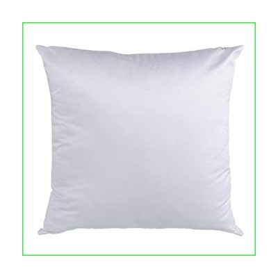 "Ving 50PCS Blank Plain White Pillow Case Blank Pillow Cover Fashion Cushion Cover for Heat Press Printing 15.75""x15.75""(40x40cm)"