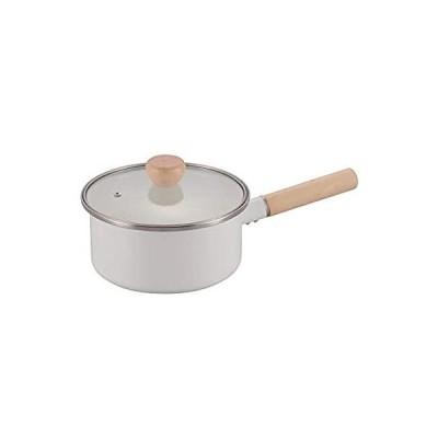 パール金属(PEARL METAL) 片手鍋 ホワイト 18cm ホーロー ガラス蓋 オンリーワン・ステージ HB-4943