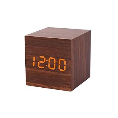 特別価格T&F 小型デジタル目覚まし時計 LEDライト 調節可能 3アラーム日付と温度キューブ ベッドルーム デスク テーブルクロック 部屋の装飾好評販売中
