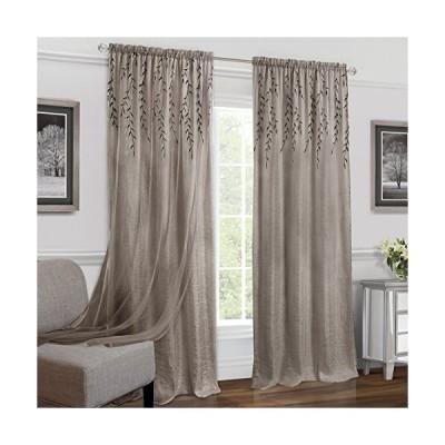 "Achim Home Furnishings Willow Rod Pocket Window Curtain Panel, 42"" x 84"", Toffee[平行輸入品]"