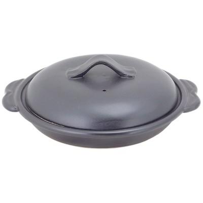 耐熱食器 和食器 / (耐)黒マット(蓋付)とんかつ鍋 寸法: Φ19 x 22 x H7.5cm 800g