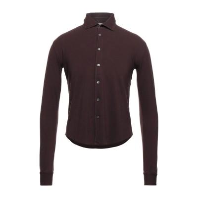 FEDELI シャツ ディープパープル 46 コットン 100% シャツ