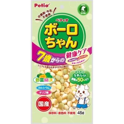 ペティオ 体にうれしい ボーロちゃん 7歳からの健康ケア 野菜Mix 45g
