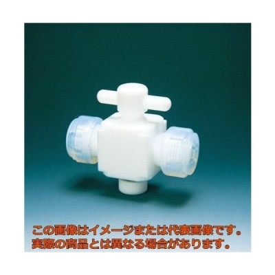 フロンケミカル フッ素樹脂(PTFE)二方バルブ接続6mm NR0028001