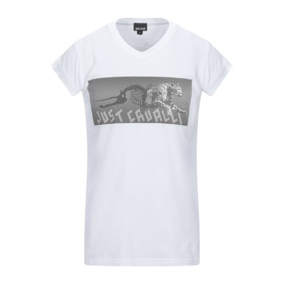 ジャストカヴァリ JUST CAVALLI T シャツ ホワイト M コットン 100% T シャツ