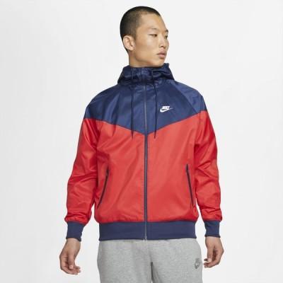 ナイキ Nike メンズ ジャケット フード アウター Woven Windrunner Hooded Jacket University Red/Midnight Navy/White