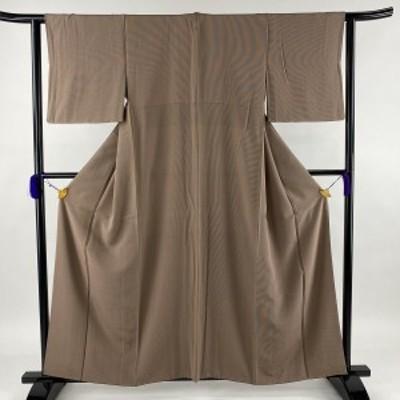 江戸小紋 秀品 一つ紋 万筋 小豆色 袷 身丈158cm 裄丈62cm S 正絹 中古