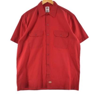 ディッキーズ Dickies 半袖 ワークシャツ メンズL /eaa146669