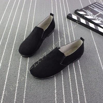 パンプス 痛くない 幅広 ローヒール 黒 ブラック スリッポン ぺたんこ レディース 靴 太ヒール 履きやすい 歩きやすい かわいい 可愛い シンプル おしゃれ