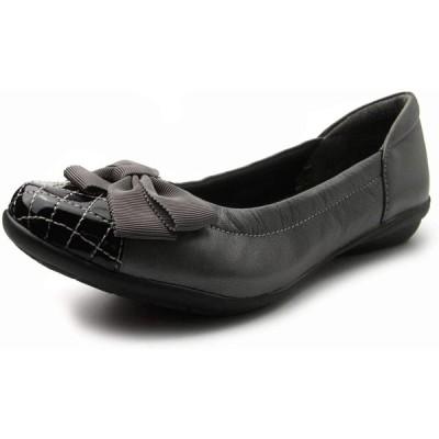 [エアリーステップ] Airy Step 婦人靴 レディースシューズ フラット カジュアル コンフォート リボン 3E 本革 幅広 軽量 歩きやすい