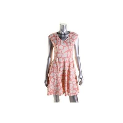 ドレス ワンピース Bar III Bar III 9693 レディース プリント Cap スリーブ Knee-Length カジュアル ドレス BHFO