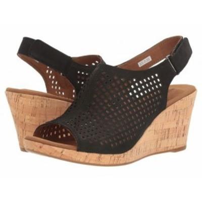 Rockport ロックポート レディース 女性用 シューズ 靴 ヒール Briah Perf Sling Black Nubuck【送料無料】