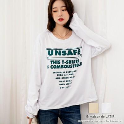 トップス 長袖 ロンT tシャツ レディース ロンティー ロゴ ロングtシャツ 長袖tシャツ カットソー スウェット シンプル カジュアル 大人 可愛い トレーナー 韓国 大きいサイズ おしゃれ 大き