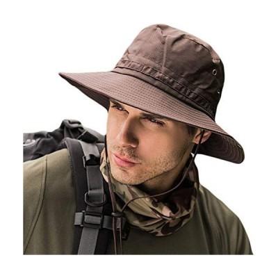 サファリハット メンズ 【UPF50+ UVカット率99% 日焼け防止】ハット 帽子 2WAY 大きいサイズ つば広 軽薄 通気性抜群 日除け 紫外線