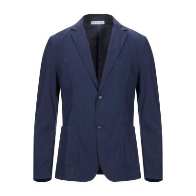 EN AVANCE テーラードジャケット ダークブルー 46 コットン 72% / ナイロン 25% / ポリウレタン 3% テーラードジャケット