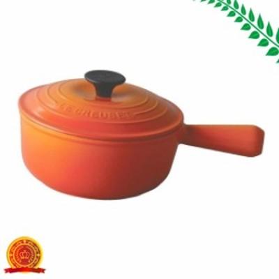 ルクルーゼ ソースパン ホーロー 鍋 IH 対応 18cm オレンジ 2507-18-09[代引選択不可]