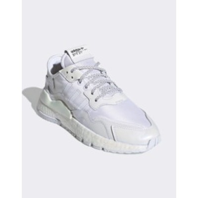 アディダス レディース スニーカー シューズ adidas Originals Nite Jogger sneaker in white White