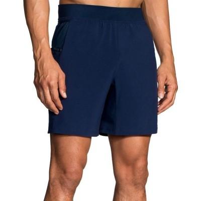 ブルックス Brooks メンズ ショートパンツ ボトムス・パンツ Sherpa 7'' 2-in-1 Shorts Navy