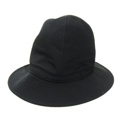 YOHJI YAMAMOTO pour homme 2019AW Wrinkled Gabardine Fedora hat/フェドラハット ブラック