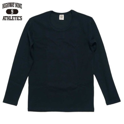 HIGHWAY NINE ハイウェイナイン U-NECK RIB L/S Tee  / BLACK