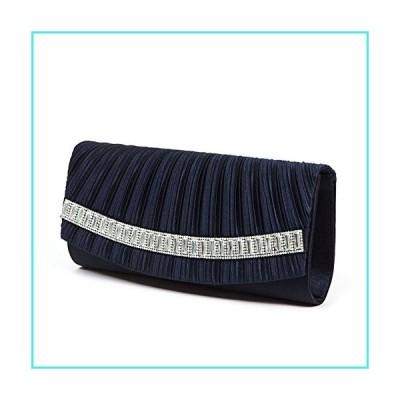 【新品】Lady Couture Flap Dressy Bag with Rectangle Rhinestones, EDNA Bag Navy(並行輸入品)