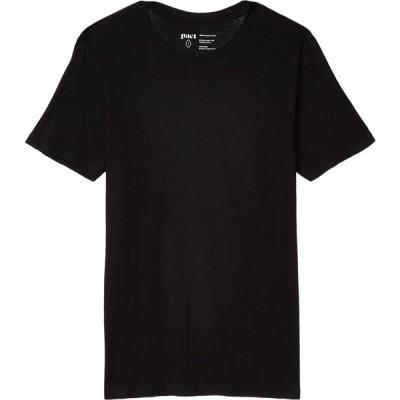 パクト PACT メンズ Tシャツ トップス Organic Cotton Featherweight Crew Neck Tee Black