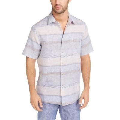 タッソエルバ シャツ トップス メンズ Men's Sunset Striped Shirt,  Tan Combo