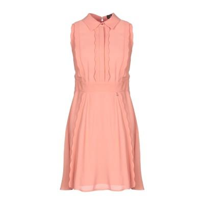 ELISABETTA FRANCHI ミニワンピース&ドレス サーモンピンク 42 レーヨン 100% ミニワンピース&ドレス