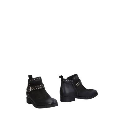 N'SAND® ショートブーツ ブラック 35 革 ショートブーツ