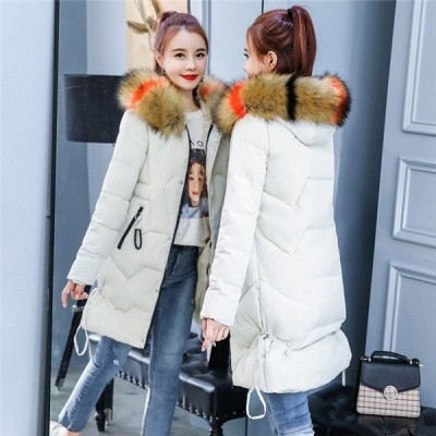 中綿ジャケット レディース 冬服 フード付き ゆったり 膝丈 着痩せ 暖かい ダウンコート アウタージャケット 厚手