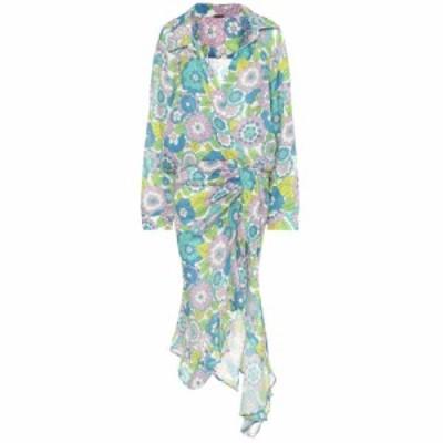 ドド バー オア Dodo Bar Or レディース ワンピース ワンピース・ドレス Floral cotton dress Blue