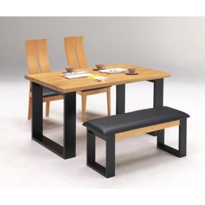 ダイニングテーブルセット 4点セット パンドラ ベンチ付き ナチュラル色