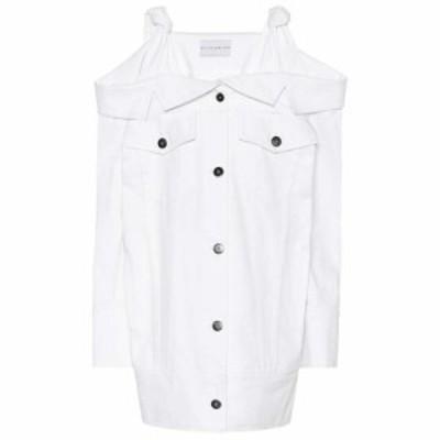 マシュー アダムズ ドーラン Matthew Adams Dolan レディース ワンピース デニム ワンピース・ドレス Off-the-shoulder denim dress Whit