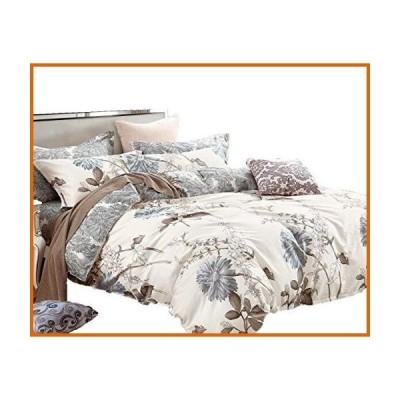送料無料 Swanson Beddings 花柄 綿100% 布団カバーセット布団カバー、枕カバー、シャムピローカバー。 クイ