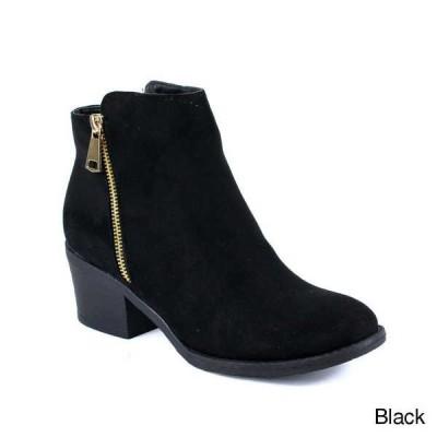 ブーツ シューズ 靴 海外厳選ブランド レディース ジッパー Stacked Chunky ハイヒール ストラップpy アンクルブーティーs PAMA-01 BLACK