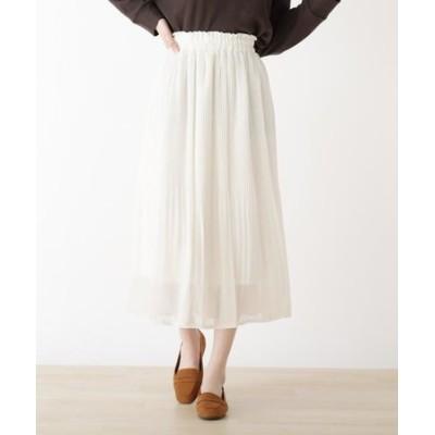 シフォンカラースカート