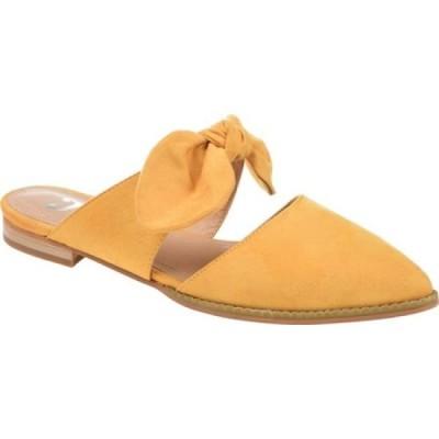 ジュルネ コレクション Journee Collection レディース サンダル・ミュール シューズ・靴 Telulah Pointed Toe Mule Mustard Microsuede Fabric