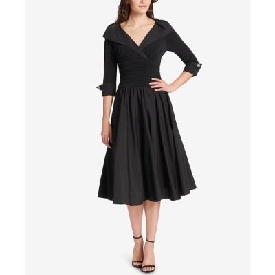 ジェシカハワード ワンピース トップス レディース Petite Portrait-Collar Fit & Flare Dress Black