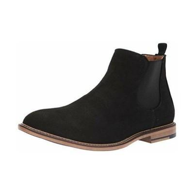 スニーカー インポートブランド メンズ Madden Men's M-Graye Chelsea Boot, Black Suede, 7.5 M US