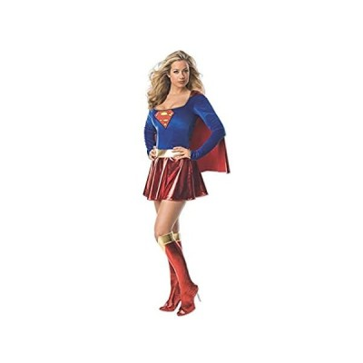 Secret Wishes Supergirl Costume, Red/Blue, S (2-6)