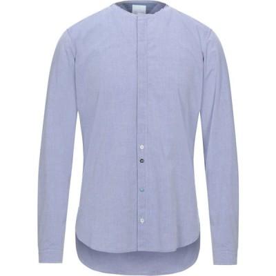 ベルナ BERNA メンズ シャツ トップス solid color shirt Blue