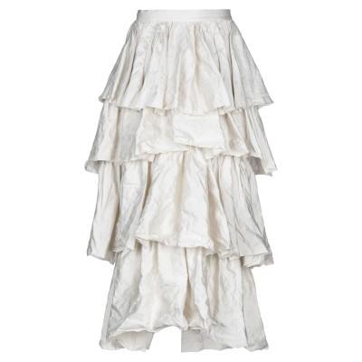 BROCK COLLECTION ロングスカート アイボリー 2 レーヨン 46% / コットン 45% / 金属繊維 9% ロングスカート