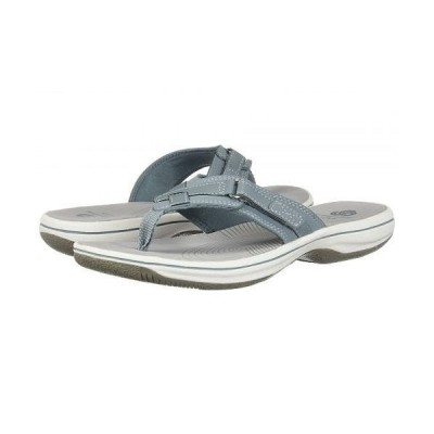 Clarks クラークス レディース 女性用 シューズ 靴 サンダル Breeze Sea - Blue Grey Synthetic