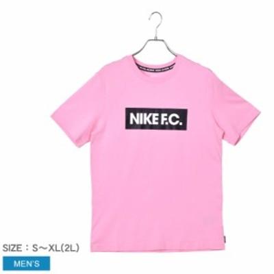 【ゆうパケット可】ナイキ 半袖Tシャツ メンズ FC エッセンシャル Tシャツ ピンク NIKE CT8430 ウエア トップス クルーネック フットボー